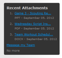 Recent Attachments