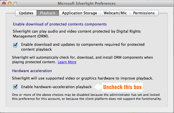 Silverlight Preferences Hudl