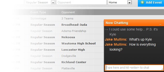 hudl chat example