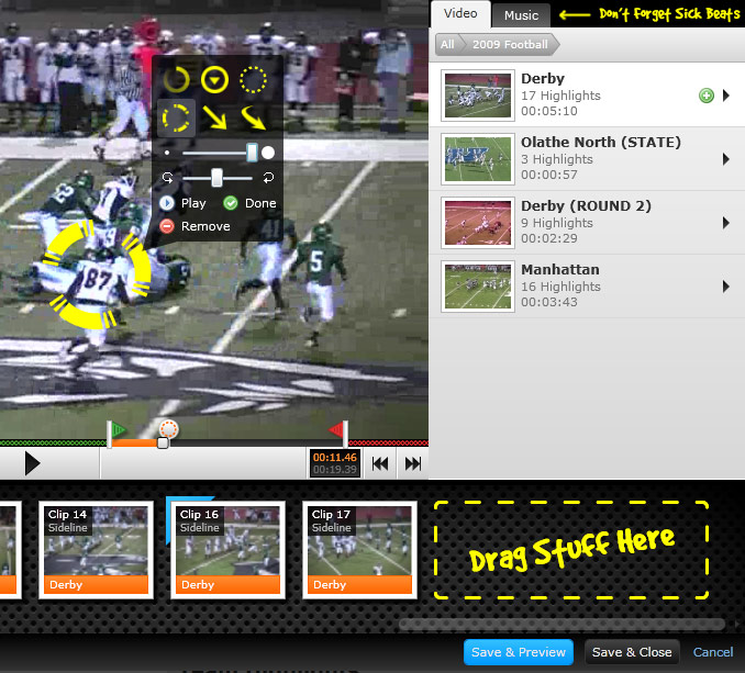 Hudl Team Premium Highlights