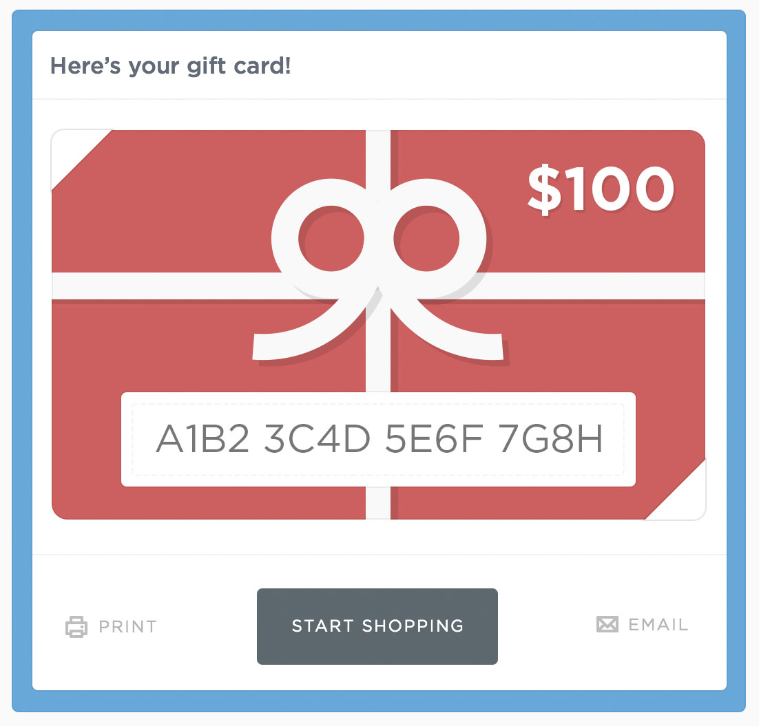 Order gift cards online pickup in store / Naturaliser shoes
