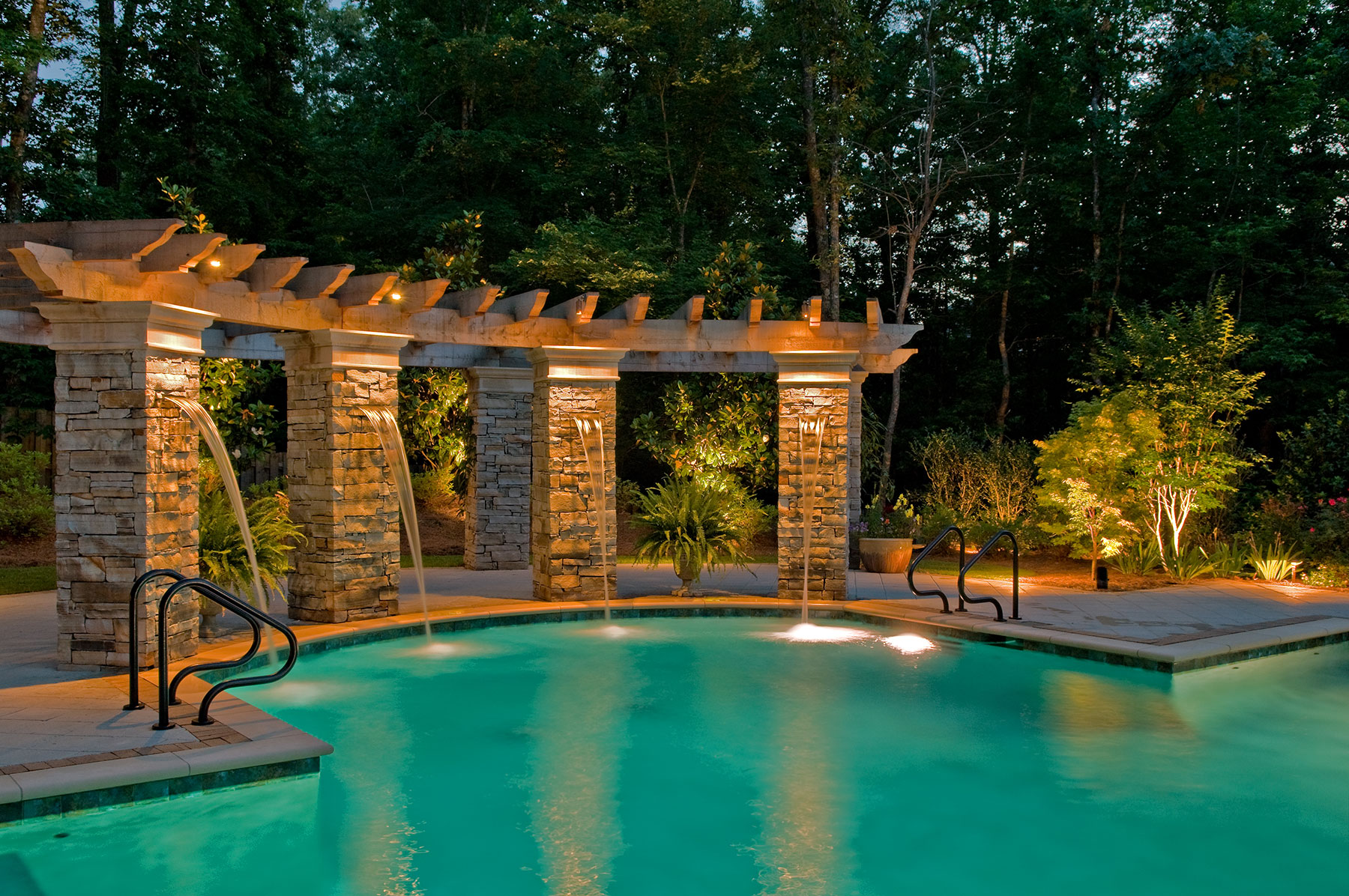 Residential Pool Lighting by Outdoor Lighting Perspectives
