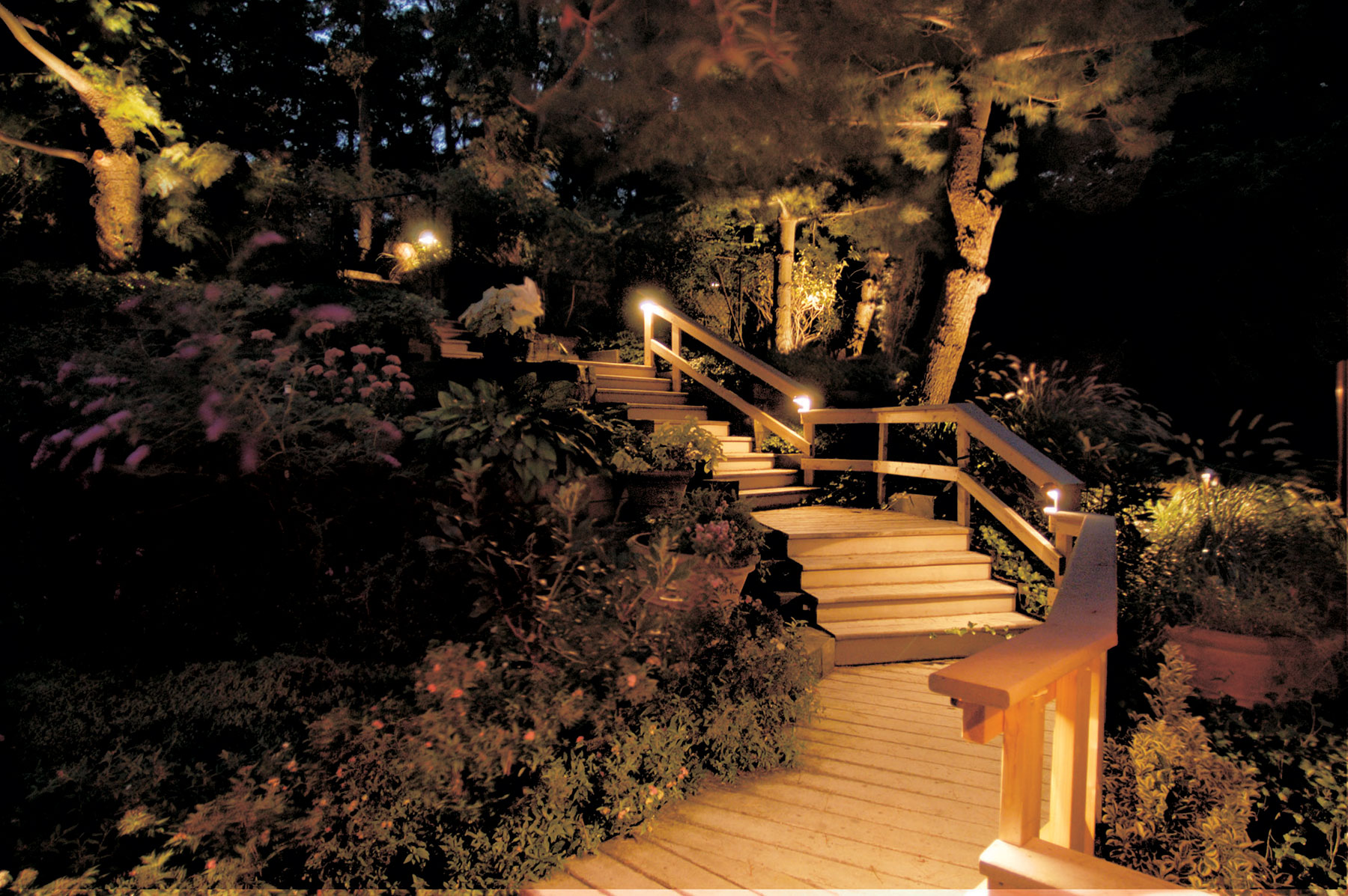 Residential Stair Lighting by Outdoor Lighting Perspectives