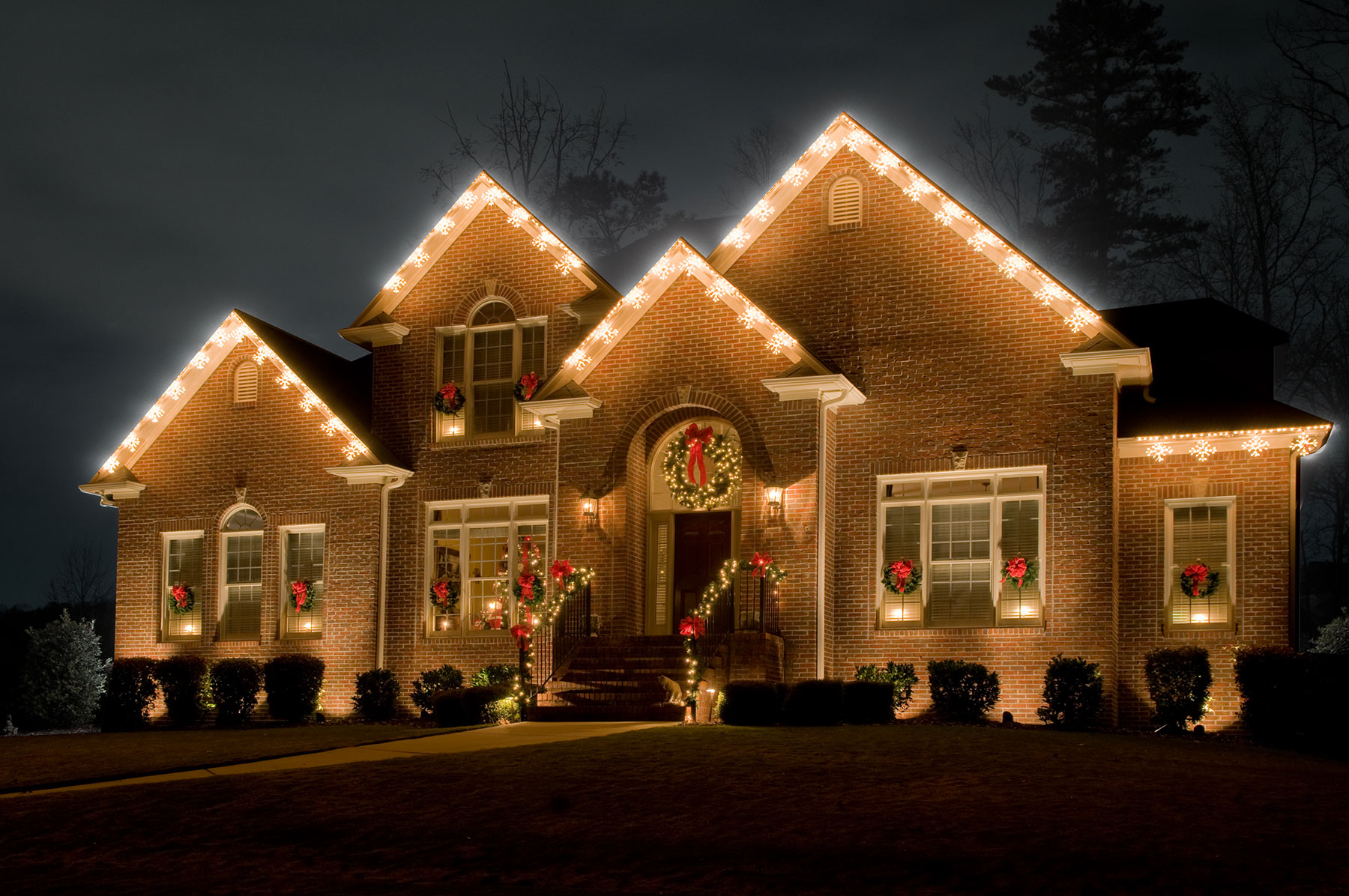 Residential Holiday Lighting by Outdoor Lighting Perspectives