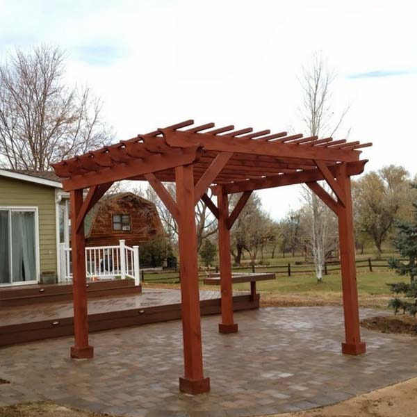 Stand Alone Deck Designs : Stand alone wood pergola over patio archadeck outdoor living