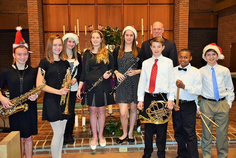 The St. Michael's Middle School Band