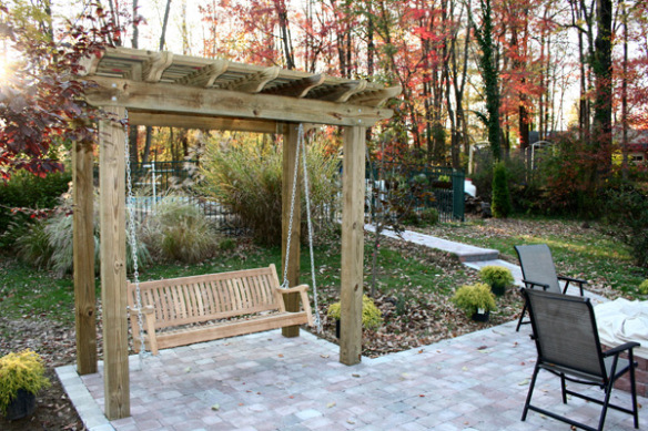 This Started With Creating A Pergola Over Their Outdoor Swing For Both  Shade And Beauty. Archadeck Also Built The Patio That Adjoined To The Deck  Where The ...