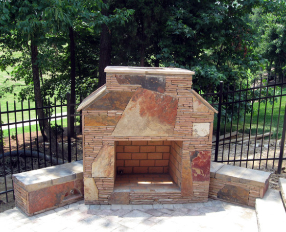 Outdoor Life Is Good With An Outdoor Fireplace On Your