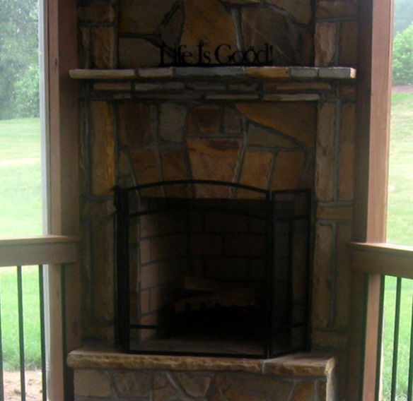 Outdoor Life IS Good With An Outdoor Fireplace On Your Screen Porch Archade