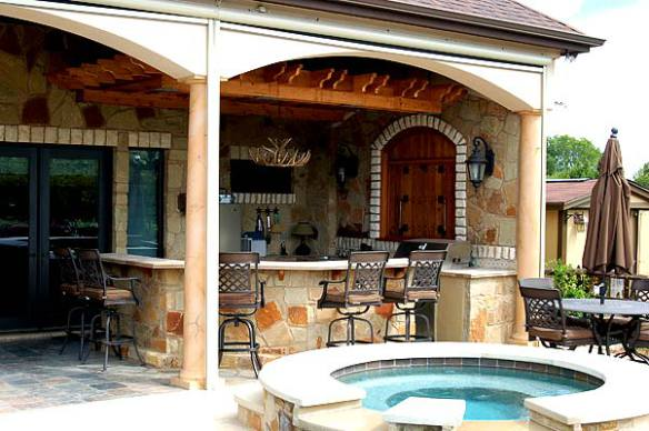 Elegant Another View Of This Patio Cover By Archadeck Of Austin Shows Just How Much  Versatility This Space Offers. An Outdoor Bar And Gully Functioning Outdoor  ...