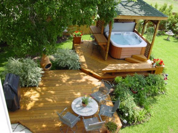 Archadeck invites you take the plunge with a stunning hot tub or spa deck archadeck outdoor living - Cozy outdoor living spaces connecting mother nature ...