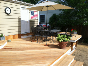 The Homeowners Wanted Their New Deck To Open Up To Their Backyard And  Garden. The Original Railings Were Cutting Those Off Completely.