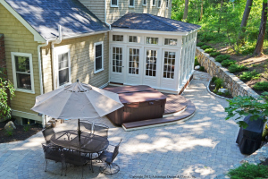 This Project From Our Patio And Deck Builder In Boston Transformed This  Backyard Into A Multipurpose Space Using A Patio, Deck And Sunroom.