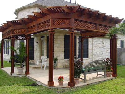 Pergolas archadeck outdoor living for Pagoda house plans