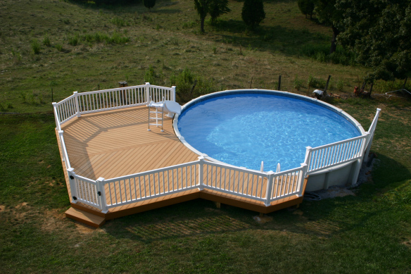 this pool deck in the tri cities is on a large rural property the homeowners had an above ground pool that they werent getting enough use out of - Above Ground Pool Privacy Screen