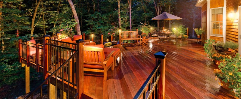 Outdoor lighting perspectives simple lighting in strategic locations can dramatically transform your backyard deck whether you want a peaceful oasis or an energetic entertainment spot mozeypictures Images