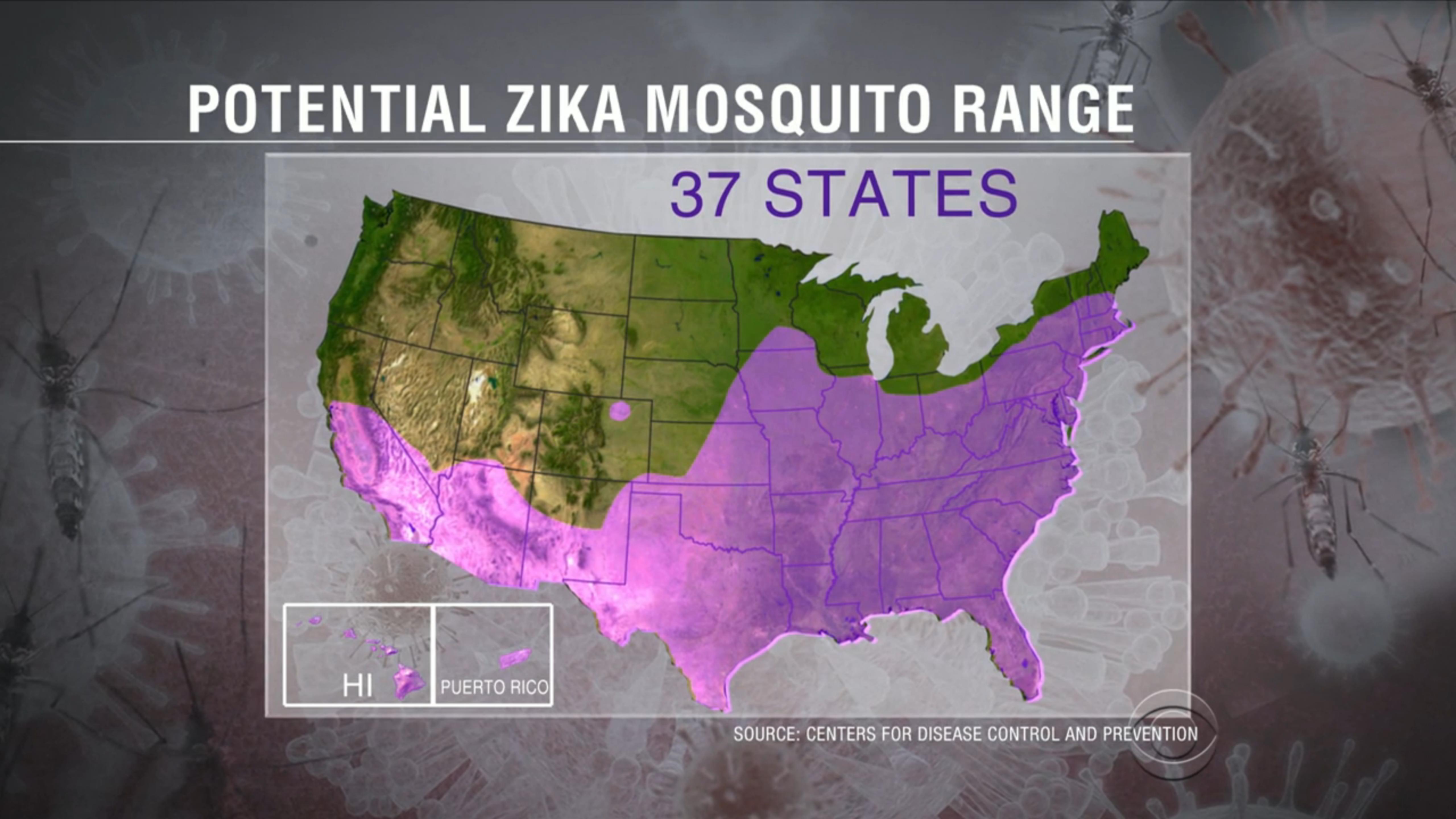 May  Mosquito Squad - Zika virus map usa states