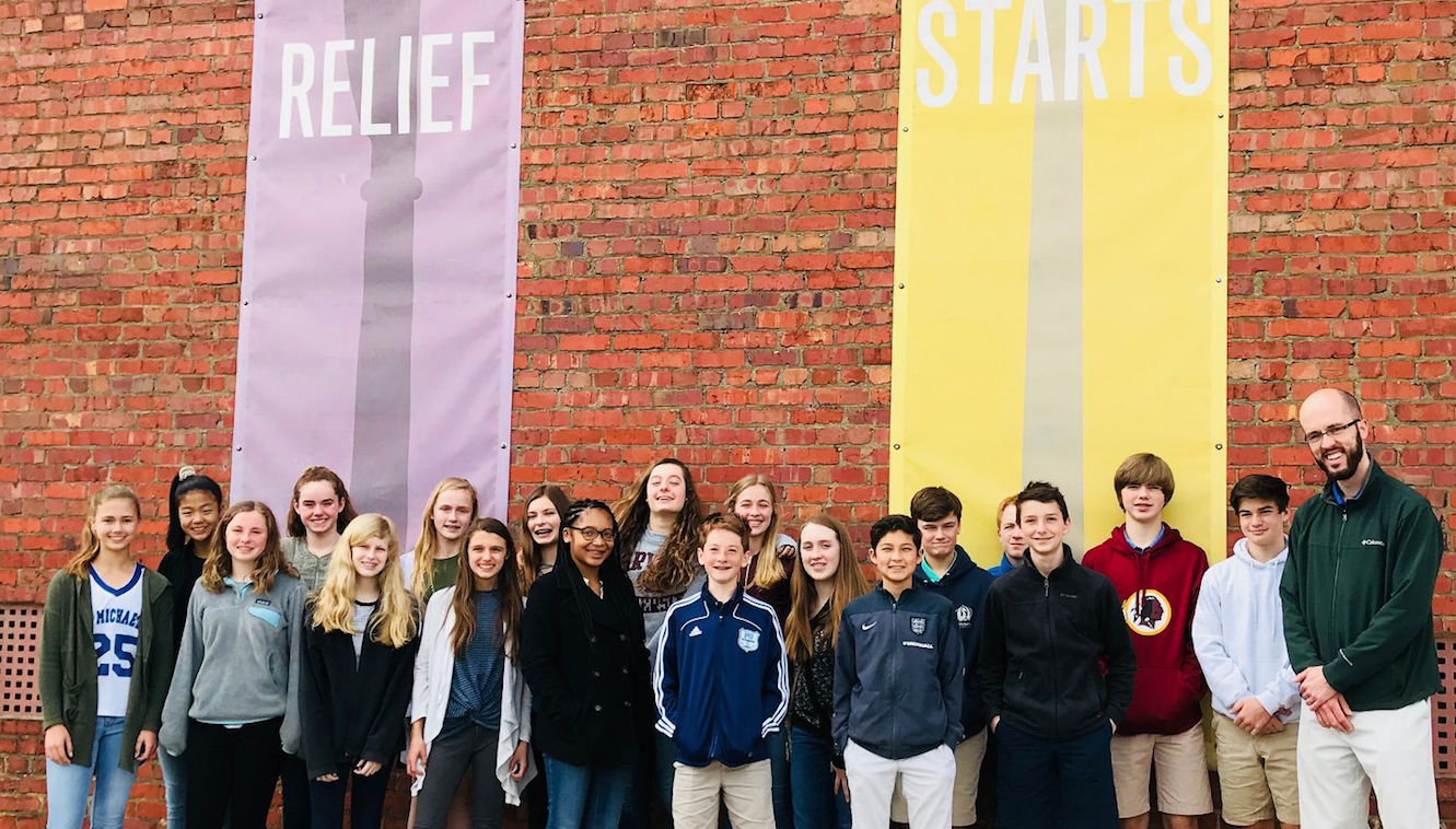 Each semester, our Middle Schoolers volunteer at FeedMore and deliver meals for Meals on Wheels. This is St M's 14th year of service with FeedMore.