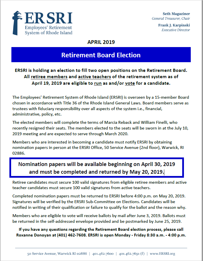 News and Updates (ARCHIVED) | Employees' Retirement System